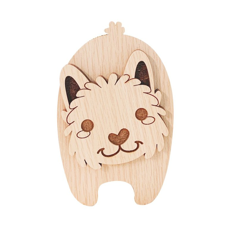 Woodcarving music box Yorkshire Terrier