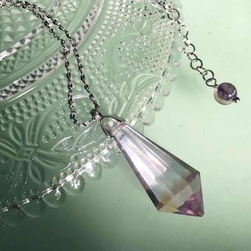 【Lost And Find】elegant Natural Amethyst necklace