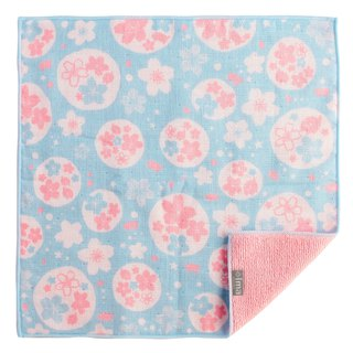 Made in Japan / Imported + ima WAFUKA Handkerchief / Towel / Square / Saliva - Cherry Blossom