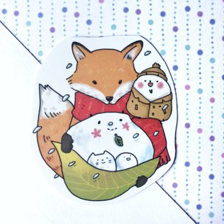 Xiong Ye waterproof sticker (white) Snow Fox and Xiong Ye