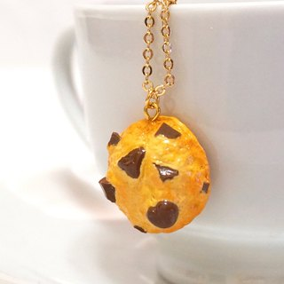 Freshly Cured Chocolate Crushed Cookie Necklace | Simulation Food Clay Necklace Sweater Chain