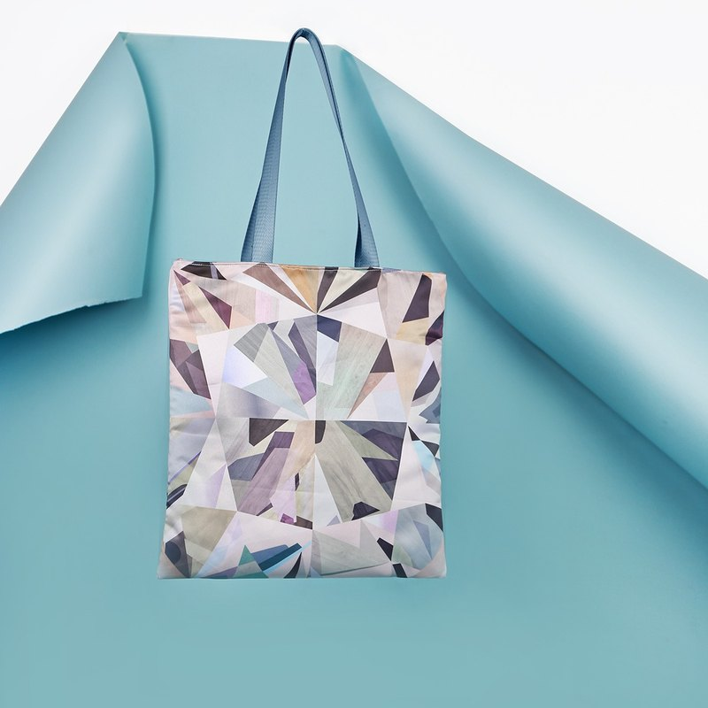 [Mell] Diamond Digital Print Tote Diamond Digital Tote Bag