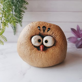 A-05 Honest Eagle │Yoshino Hawk x Owl Pottery Storage Penholder Pure Handmade Desk, Desk Stationery Healing Small Things
