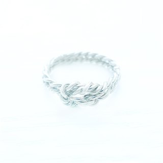 ROPE  - Tailormade Braided Silver Ring
