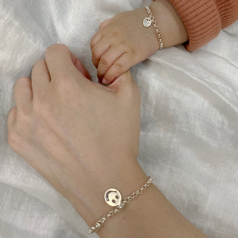 Because of you - sterling silver bracelet / adults