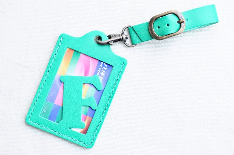 [Rainbow Department 🌈RAINBOW8 | Italian green | ITA GREEN- initial letter A to Z English letters luggage tag] Good sewing leather bag free package manual wordpress card sets card holder card holder luggage luggage travel accessories folder clip simple and