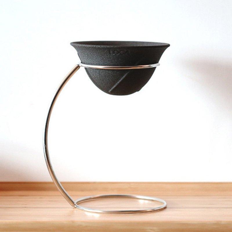 LOCA咖啡陶瓷濾杯 圓弧形R號 手沖架套組