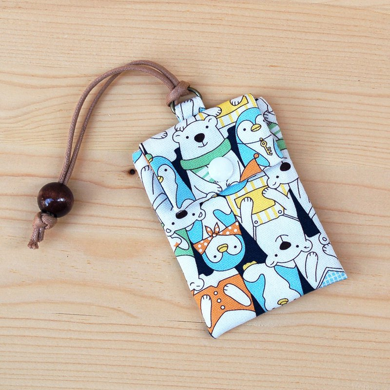 Penguin polar bear card bag / order