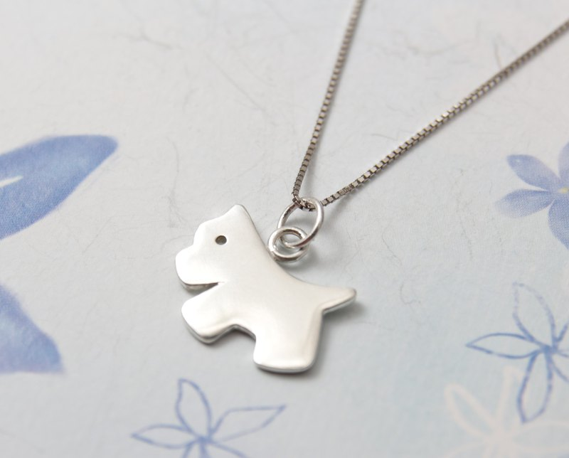 Sterling Silver Necklace / Doggy
