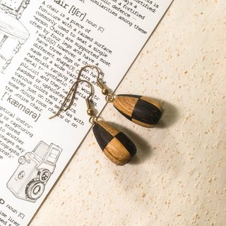 Stitching earrings | handmade wooden earrings / hanging type