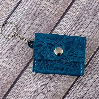 U6.JP6 handmade leather goods - hand-stitched imported leather - Turkish blue / universal bag / coin purse (for men and women)