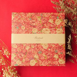 [Hong Kong and Macau Free Shipping] rich flower gift box (with bag) / red festive style / gift / with hands