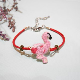 Healing line embroidery red crane bracelet red line hand embroidery