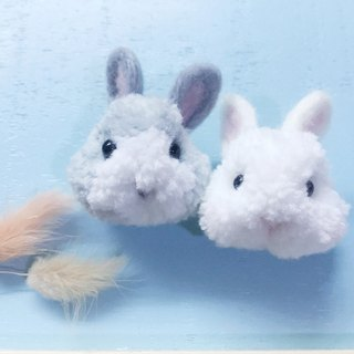 Small hair ball rabbit rabbit white rabbit small gray rabbit can do pin hairpin ornaments