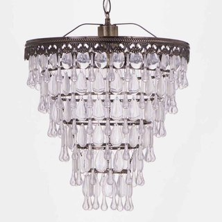 BNL00033-bronze transparent acrylic beads bead chandelier