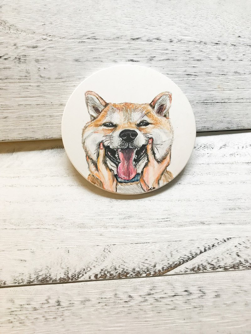 Hand painted ceramic coasters / artwork