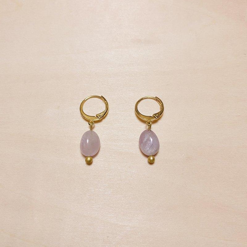 復古薰衣草紫晶小圈圈耳環