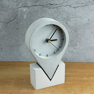 Landmark Clock - Punch - Cement Clock - Industrial Style - Cultural & Creative Gifts - Hand-Made Creative - Grey Cement