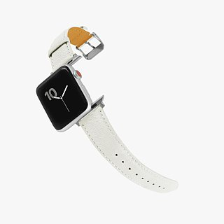 Multicolor Genuine Leather Goatskin Series Macaron Dream White Apple Watch Apple Watch Strap