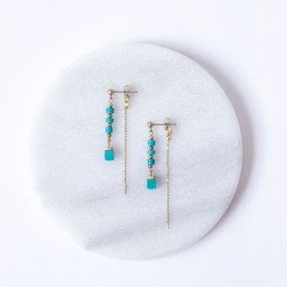 Find it / Midnight Gardener - Turquoise Brass Earrings