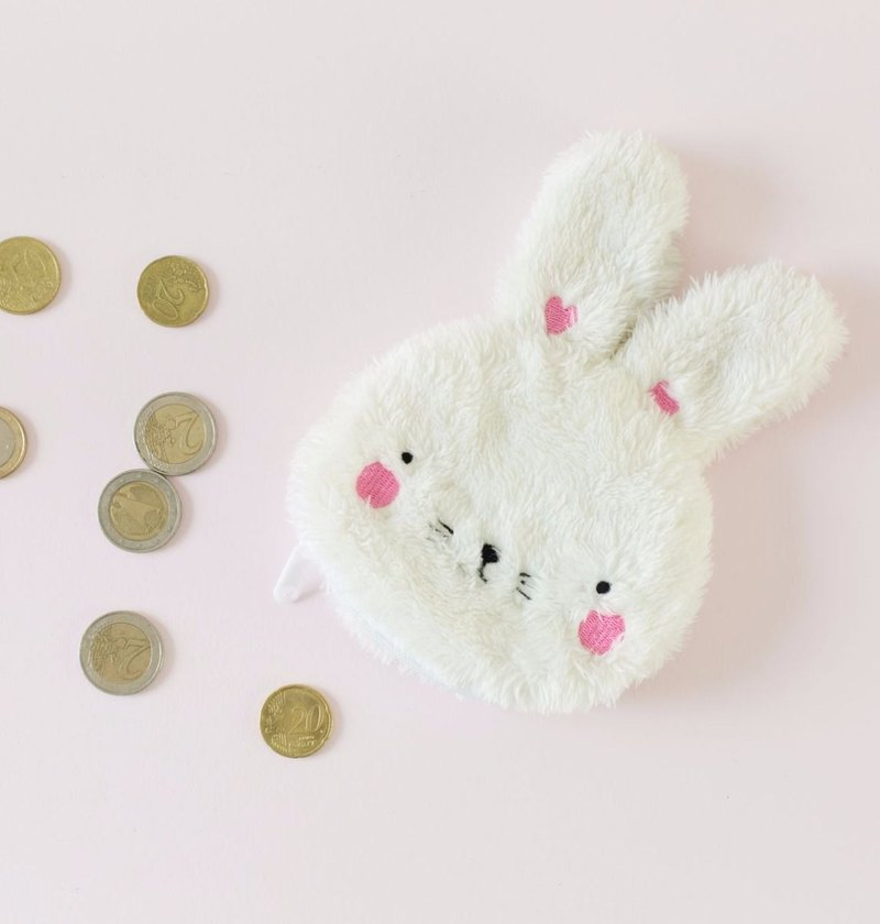 [Out of print sale] Netherlands a Little Lovely Company – cute little white rabbit coin purse