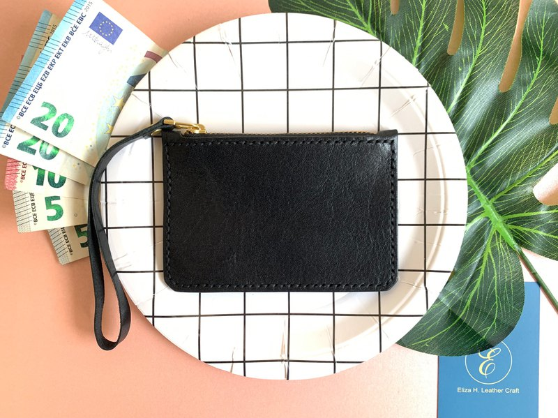 Eliza H. simple leather zip coin purse