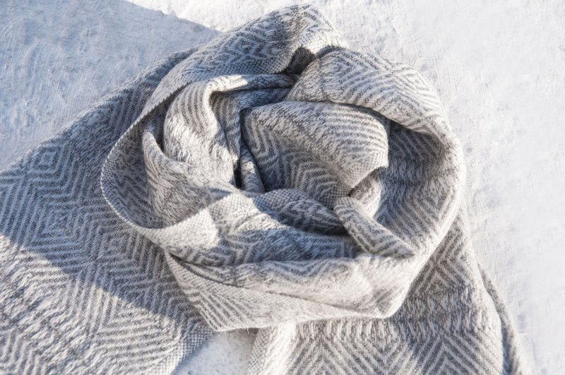 Kashmir Cashmere / knitted scarf / pure wool scarf / wool shawl-thick marble pattern