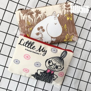 [MOOMIN snail rice] retro color storage bag Organizer · Genuine authorized card International