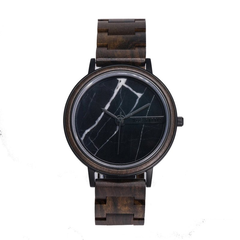 WILS FABRIK - Dark Marine - Black Marble Black Sandalwood Watch