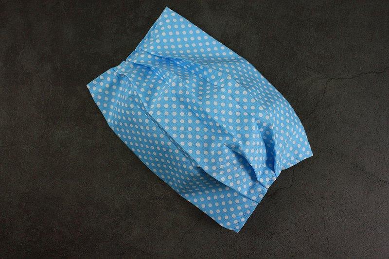 藍底白點 口罩套 口罩袋 可更換鬆緊帶 成人/兒童/幼兒 可放濾材