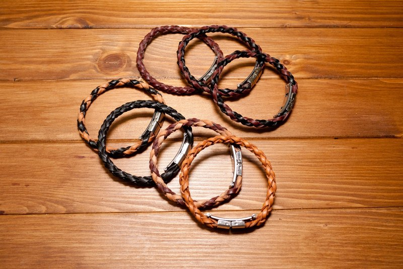 Dreamstation leather Pao Institute, vegetable tanned leather hand-woven leather bracelet