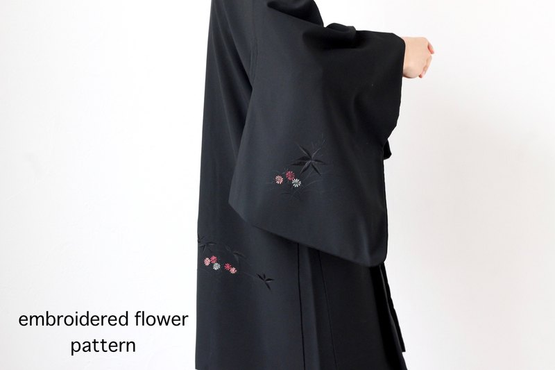 embroidered flower kimono, haori jacket /4148
