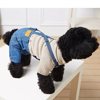 Pet clothes suspenders jeans