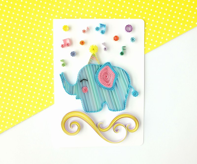 Hand made decorative cards-Elephant