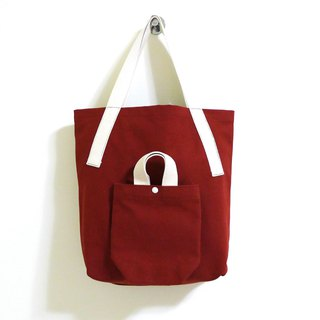 I am Yours Series tote bags (brick red)