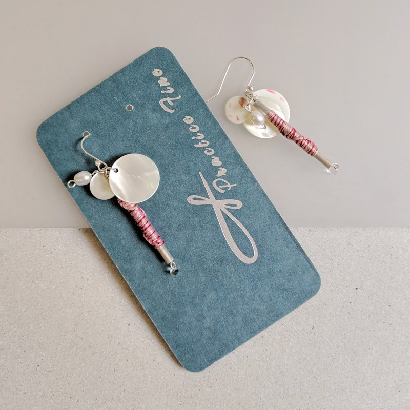 Practice Fine - 925 sterling silver woven earrings
