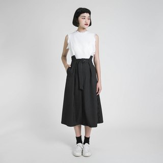 Moment moment high waist pleated skirt _8SF232_ black