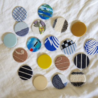 EIB fabric brooch 4th Anniversary Cloth badge