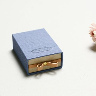 Inspiration // Blue) Sliding Box Leather ribbon 気持ちを伝える小さな箱