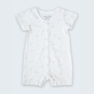 [Deux Filles Organic Cotton] Grey Shell Short Sleeve Bodypack