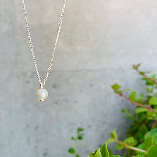 925 sterling silver mini clavicle chain [small pearl necklace]