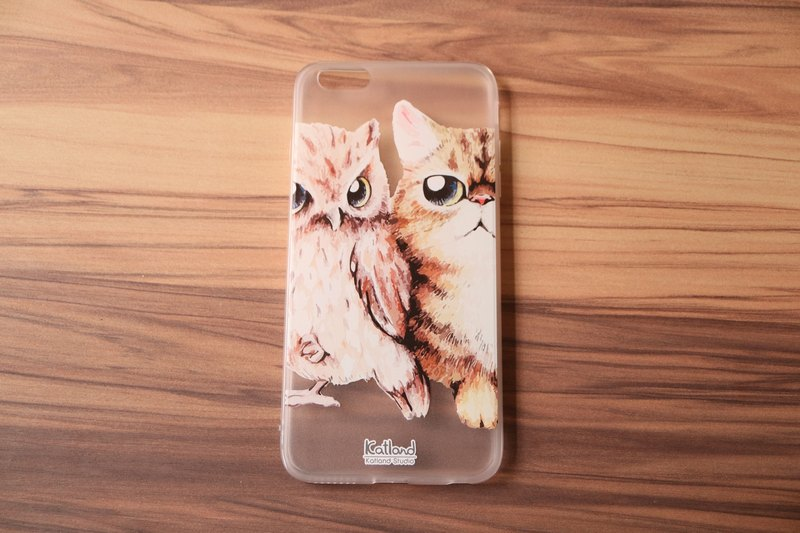 Own design - the cat and owl phone shell protective sleeve Phone Case K01