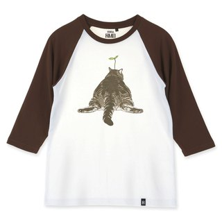 AMO®Original canned cotton adult 3/4 Raglan T-Shirt /AKE/Big butt cat