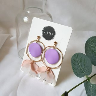 Dream cloud drop flower ear / ear clip handmade earrings Korea direct