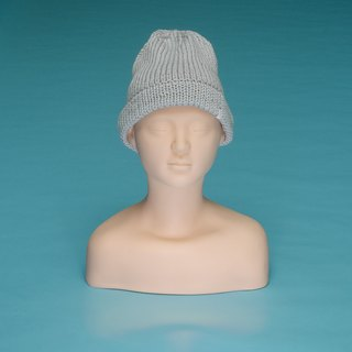 Plain - Light Gray OTB002 Hand Knitted Cap