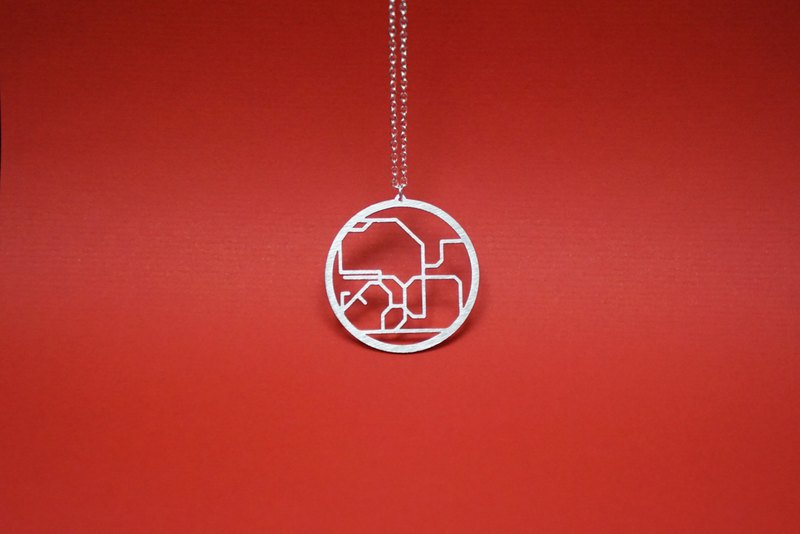 Hong Kong Necklace | Metro | Subway | Map | Abstract | Contemporary | Boxed
