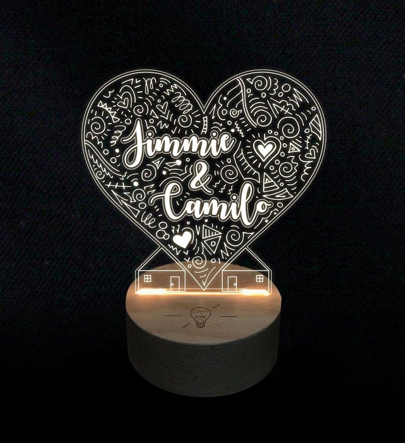 LightxLife_客製化心形塗鴉小夜燈_可更改名字