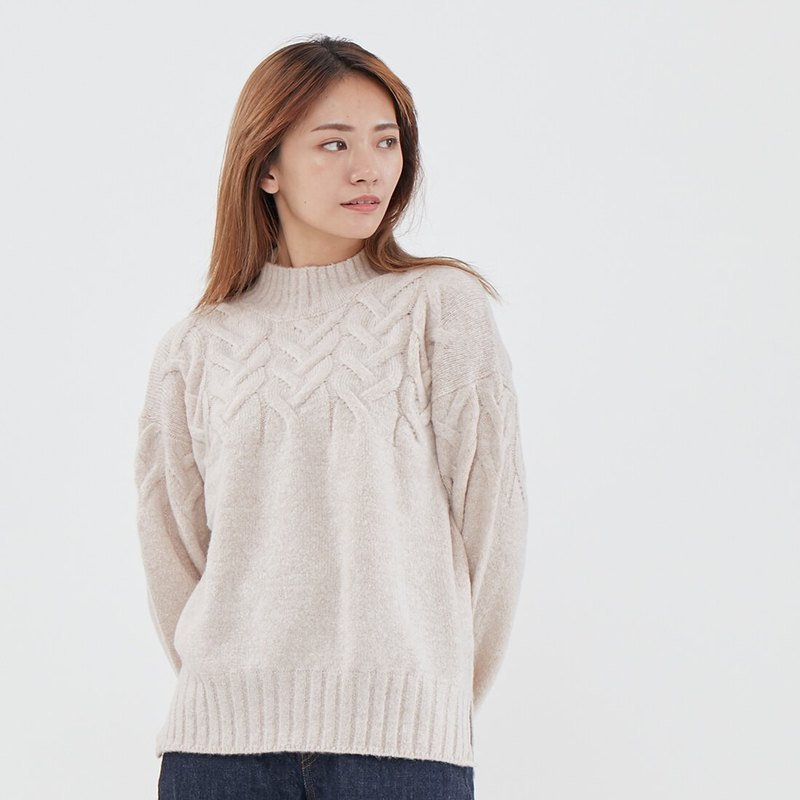 Sarah Cable Lopapeysa Pullover Sweater  / Cream