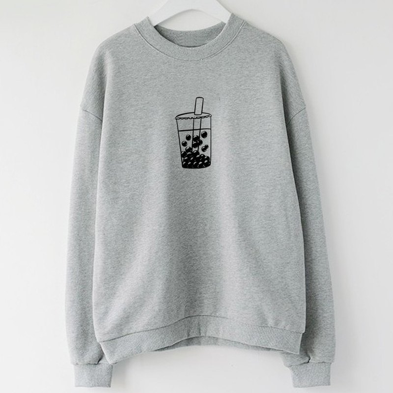 Bubble Tea unisex gray sweatshirt
