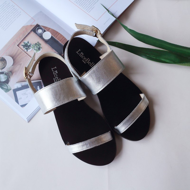 Small flaw new product-[sometimes] simple sandals-spacetime silver